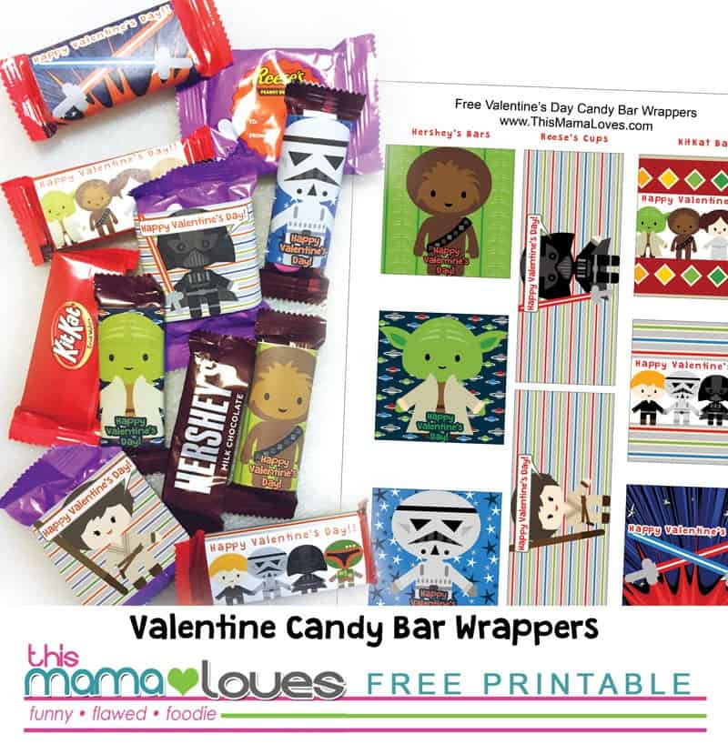 Star Wars Candy Wrappers for Valentines Day - This Mama Loves