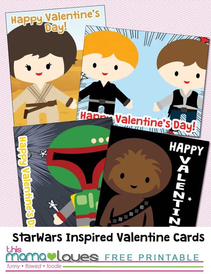 Printable Star Wars Non Candy Valentines- This Mama Loves Blog