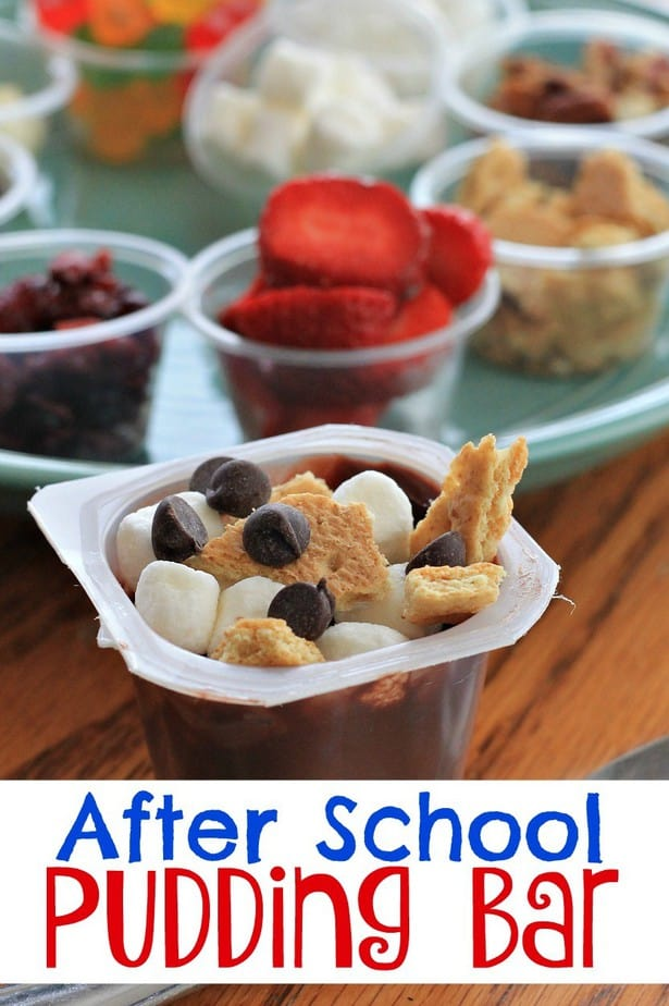 After school pudding bar- This Mama Loves