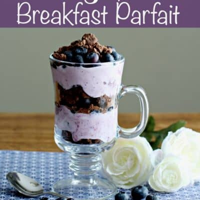 Blueberry Chocolate Breakfast Parfait Recipe