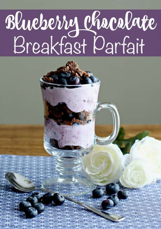 Blueberry Chocolate Breakfast Parfait- This Mama Loves