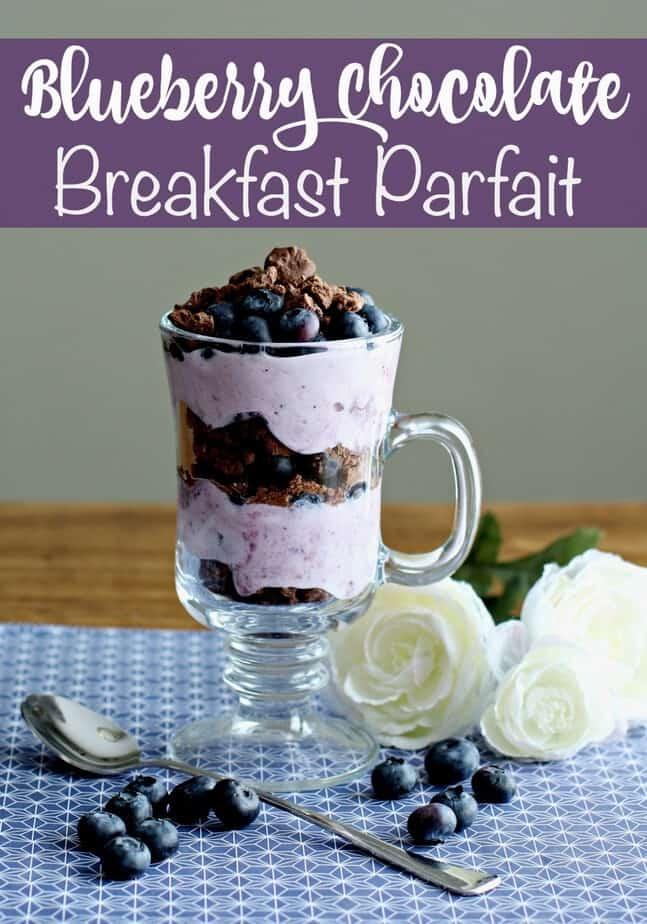 Blueberry Chocolate Breakfast Parfait Recipe | This Mama Loves