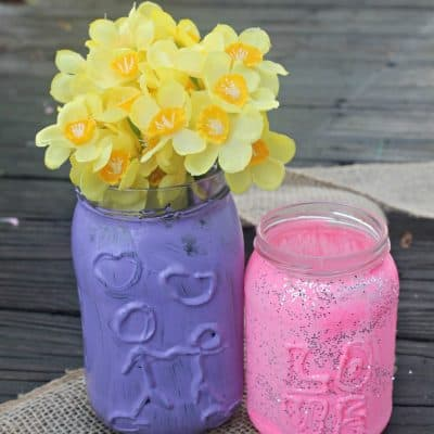 Easy decorative upcycled jars craft- This Mama Loves