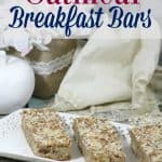 Easy oatmeal breakfast bar recipe- This Mama Loves