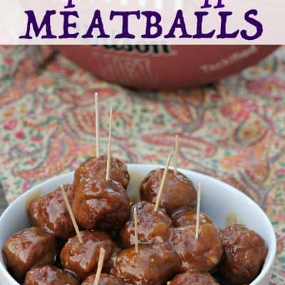 Chipotle-Pineapple Meatballs: Game Day Grub