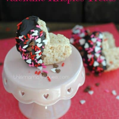 Semi-Homemade Rice Krispies Valentine Hearts
