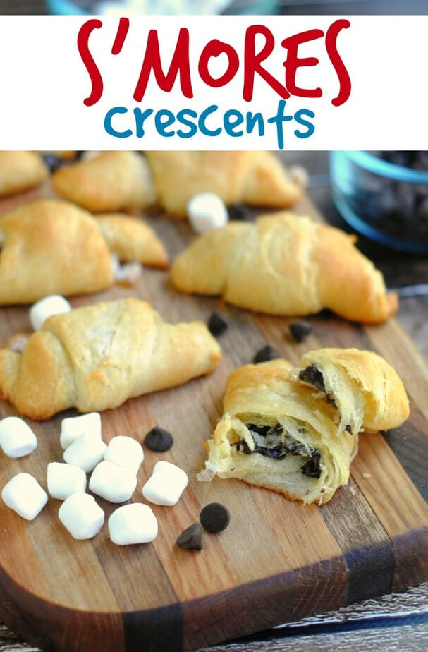 S'mores Crescent Rolls Treat Recipe - This Mama Loves