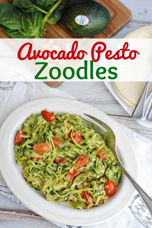 Avocado Pesto Zoodles: Vegetarian Keto Recipe