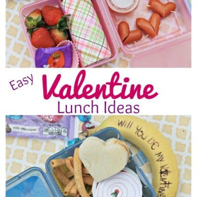 Easy Valentine Lunch Ideas {with a sweet surprise}