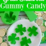 Green shamrock homemade gummy candy- This Mama Loves
