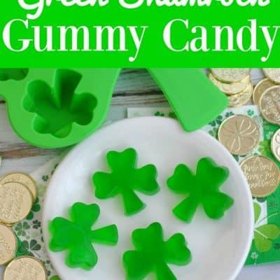 Green Shamrock Homemade Gummy Candy