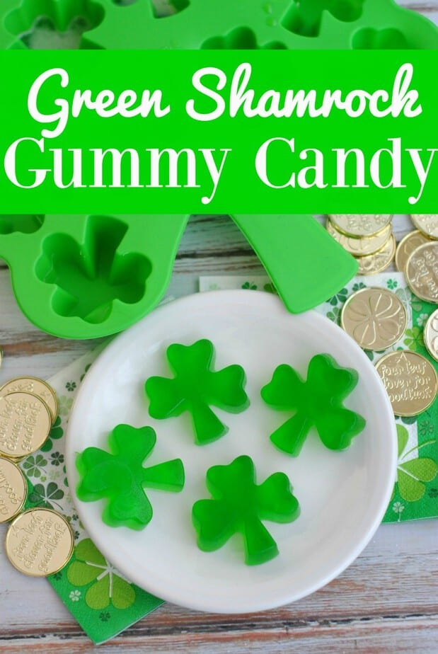 The perfect Green shamrock homemade gummy candy for your St. Patrick's day celebrations!