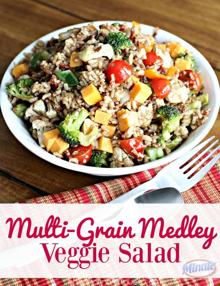 Multigrain Medley Veggie Pasta Salad- This Mama Loves