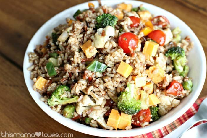Multi-Grain Medley Veggie Salad