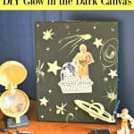 Star Wars Glow in the Dark Canvas DIY - This Mama Loves