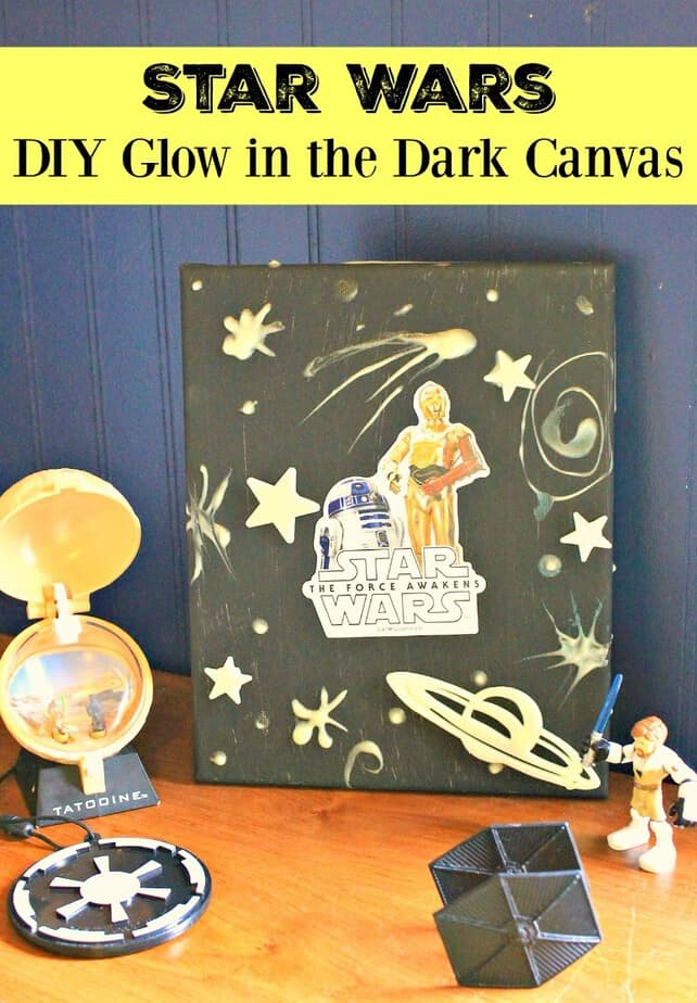 Star Wars Room Decor Idea Glow In The Dark Canvas This