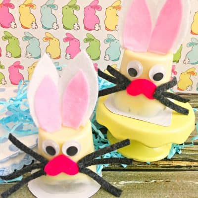 Easter Bunny Pudding Cup Craft Idea