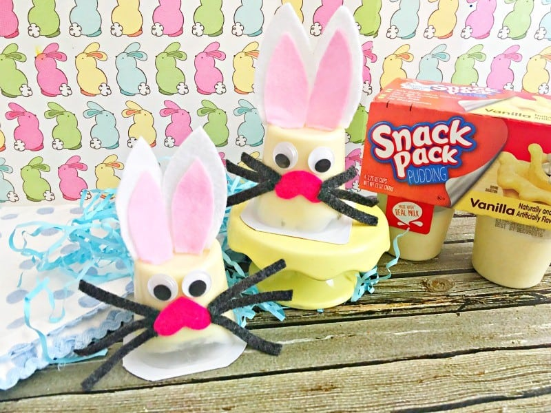 Bunny Pudding Cup Craft Idea This Mama Loves