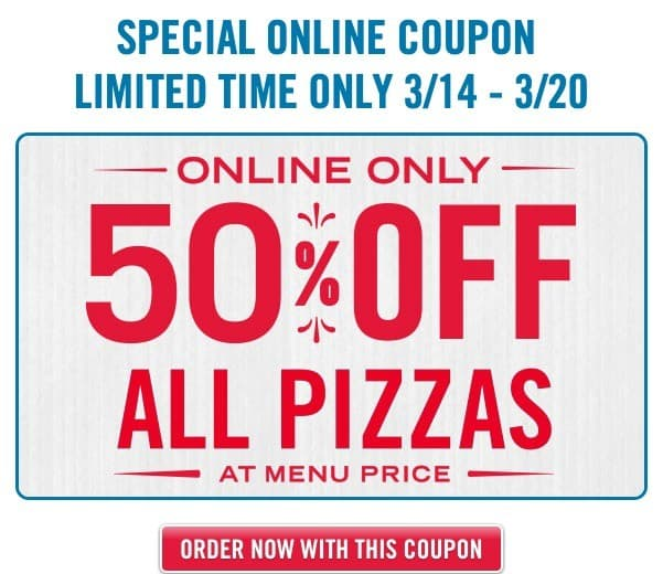 Dominos 50 % off Pizza Deal This Mama Loves