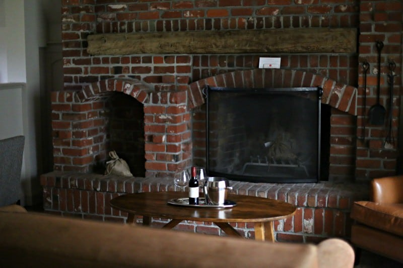 harvest inn fireplace