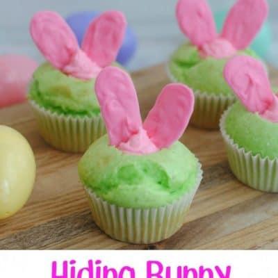 Hiding Bunny Cupcakes
