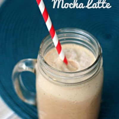 """5 Minute Frozen Mocha Latte Recipe + Tips to grab some """"me"""" time!"""