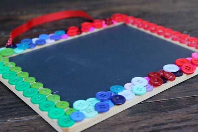 Mother's Day Button Chalkboard Craft 4