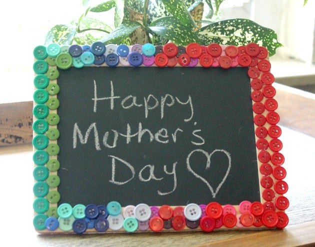 Mother's Day Button Chalkboard Craft 6