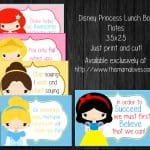 Disney Princess Lunch Box Notes- This Mama Loves