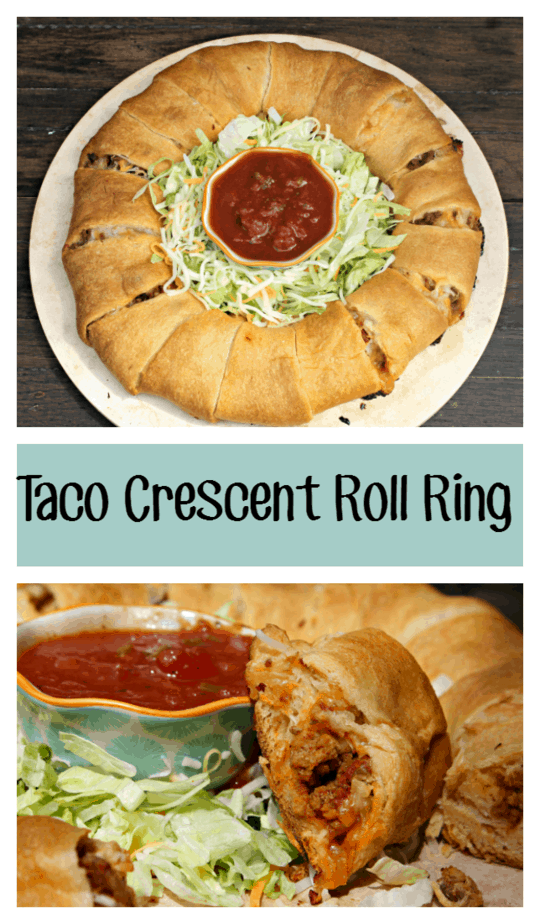 Taco Crescent Roll Ring pin