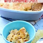 Chicken Chili with Cornbread Crust- This Mama Loves