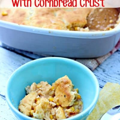 Chicken Chili with Cornbread Crust