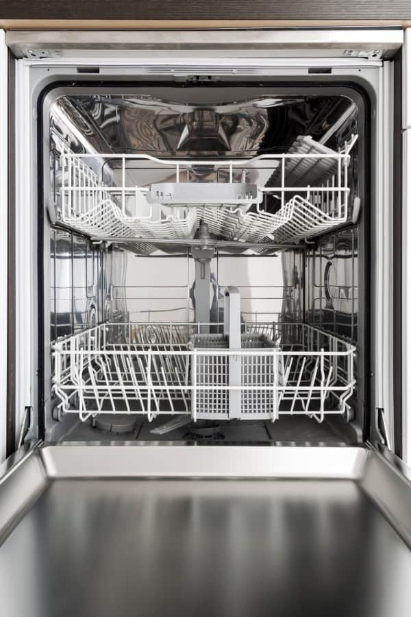 how to clean dishwasher empty