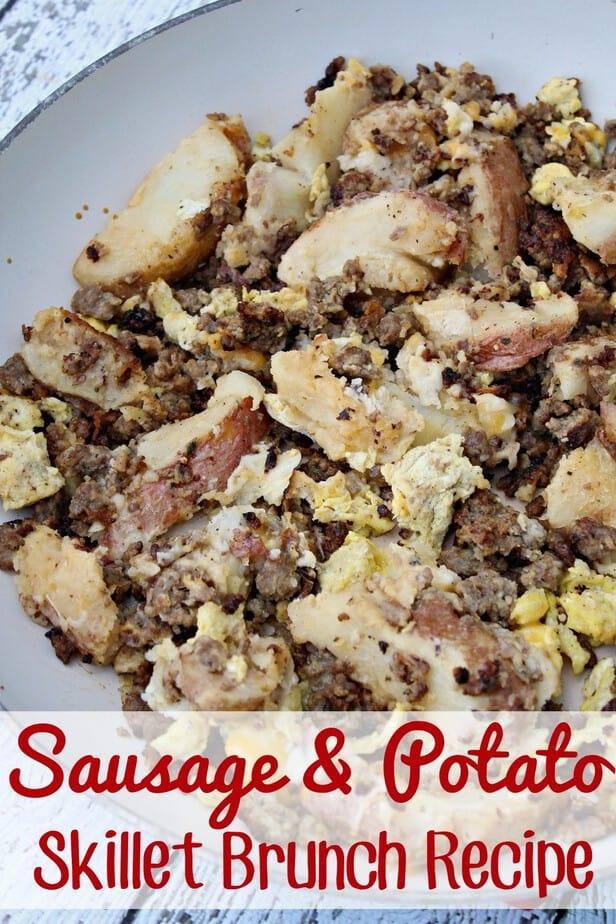 Skillet Sausage & Potato Brunch Recipe- This Mama Loves