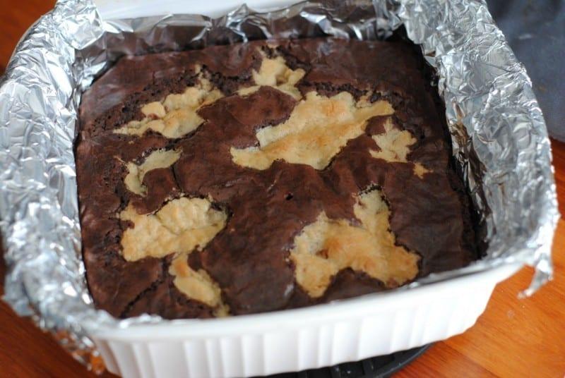 chocolate chip cookie brownies in pan