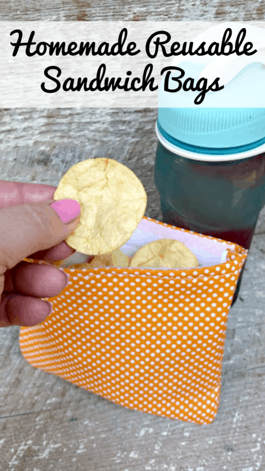 Homemade Reusable Sandwich Bags pin