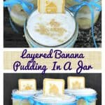 Layered Banana Pudding In A Jar pin