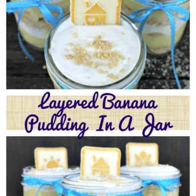 Layered Banana Pudding In A Jar
