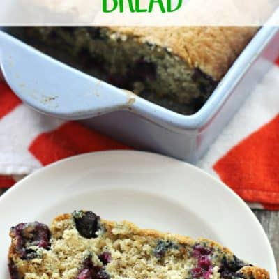 Blueberry Banana Bread {Lightened up Version}