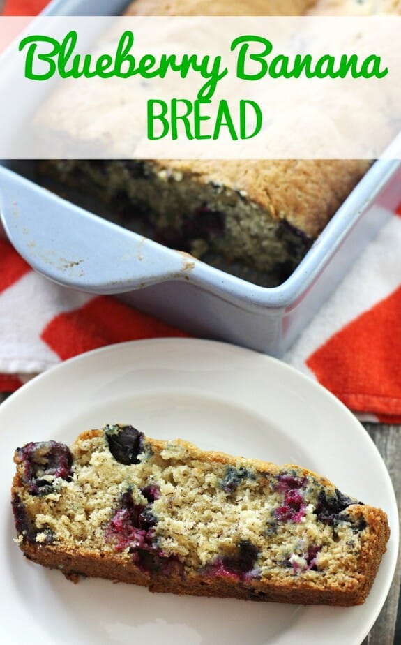 blueberry banana bread recipe hero