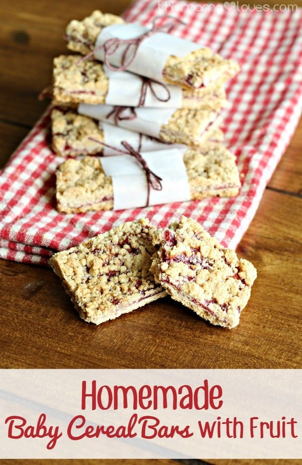 Homemade Baby Cereal Bars with Fruit
