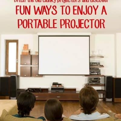 Fun ways to enjoy a portable projector