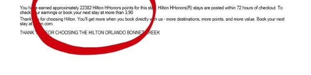 hilton bonnet creek receipt 2
