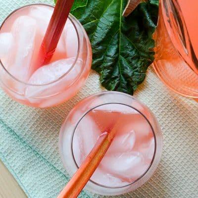 Honey Rhubarb Iced Tea (recipe)