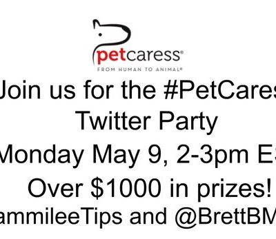 Join us for the #PetCaress #TwitterParty May 9
