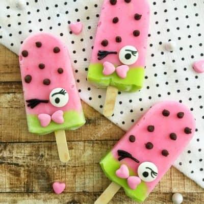 Shopkins Party Idea: Shopkins Popsicles