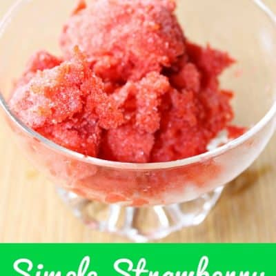 Simple Strawberry Sorbet Recipe