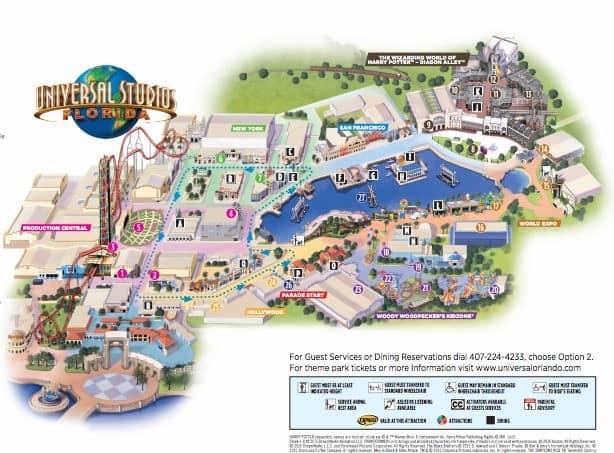 universal studios florida 2016 map