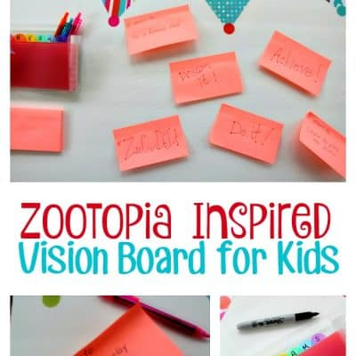 Zootopia Inspired Vision Board for Kids