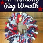 DIY Patriotic Rag Wreath Craft from This Mama Loves
